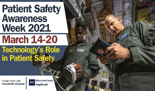 banner patient safety awareness week 2021 March 14-20 Technology's Role in Patient Safety