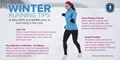 infographic showing tips for staying warm and safe while exercising in the cold.