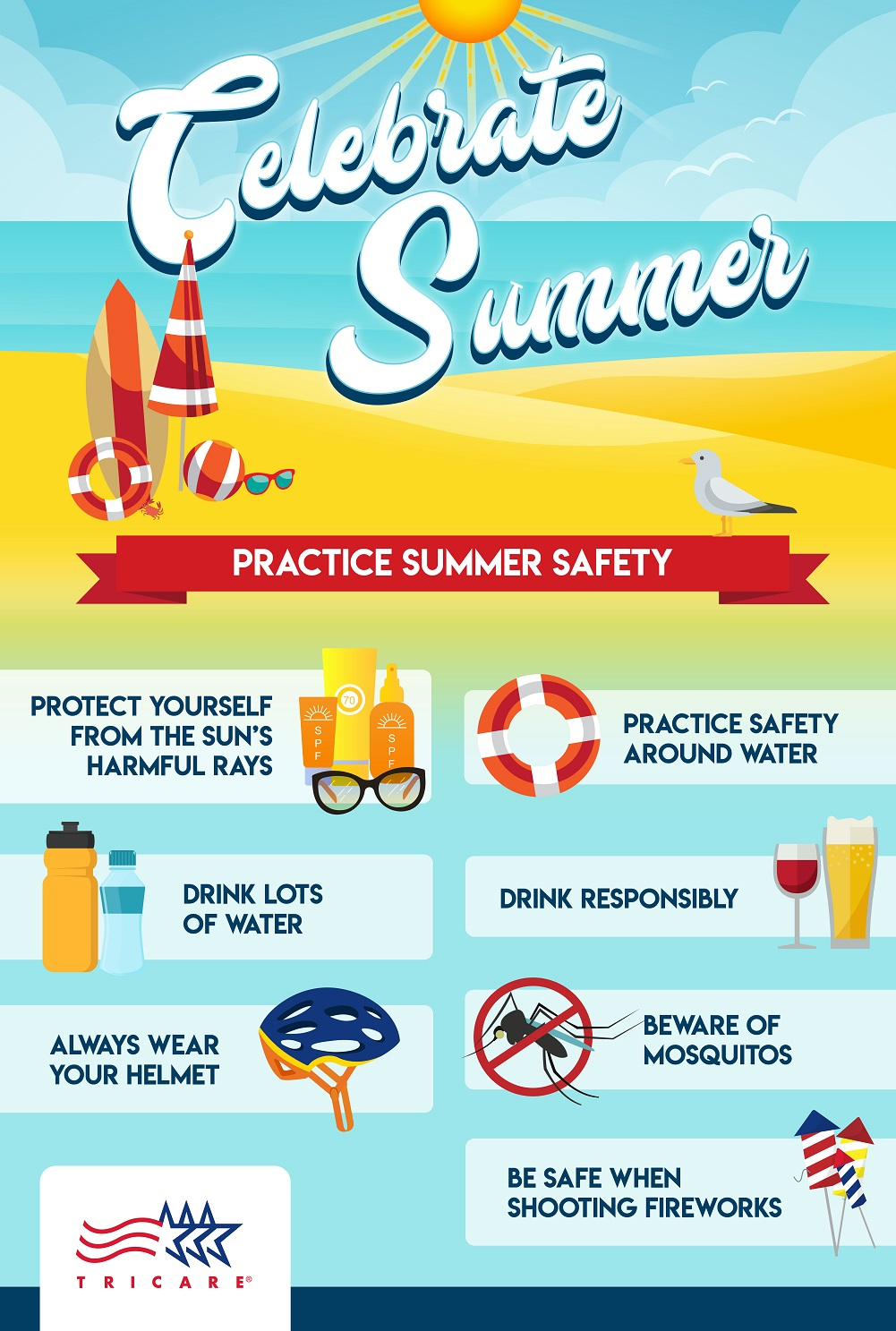 This infographic provides practical tips to help you practice summer safety while outside.