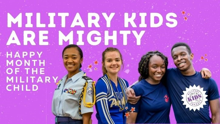 Opens larger image for Defense Health Agency celebrating the mighty military child in April