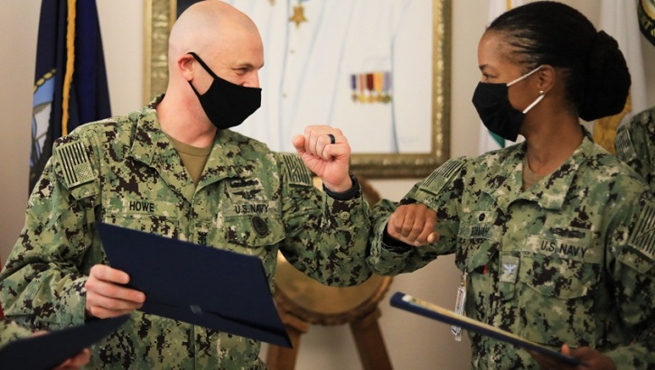 Opens larger image for Navy Pediatrician Rises from Humble Beginnings to Make History