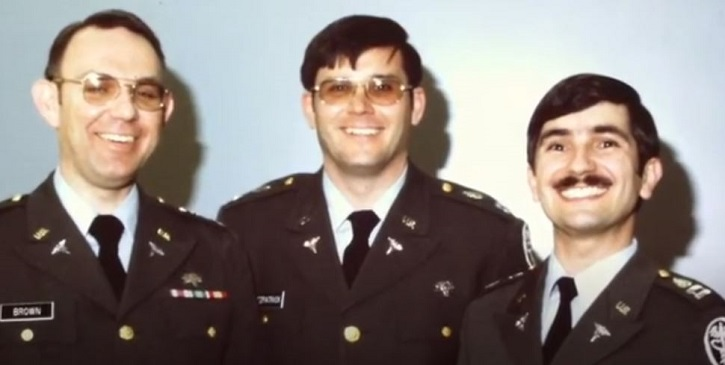 Picture of three men in military uniform