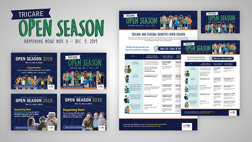 This graphic has images of the products in the 2019 Open Season Toolkit III
