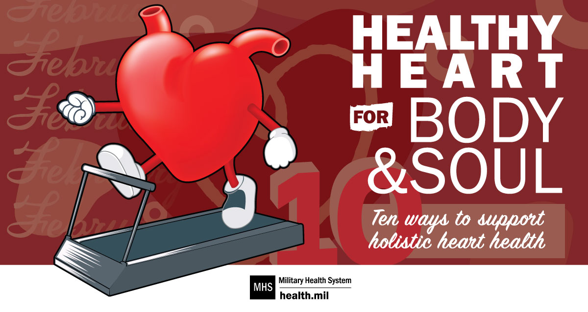 Links to 10 ways to support holistic heart health