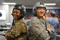 At an informal celebration at the AFWERX Vegas Innovation Hub earlier this month, U.S. Air Force personnel took delivery of four helmet designs that may each represent the next generation of fixed-wing aircrew equipment. In just nine months, the AFWERX innovations process generated tangible products for further Air Force testing and development. (U.S. Air Force photo by Nathan Riddle)