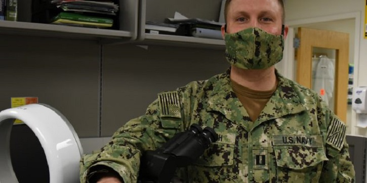 Image of Lt. Daniel Murrish wearing a mask