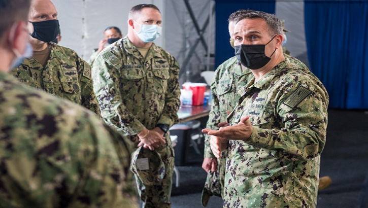 Links to Navy nurse steps into Jacksonville community for COVID-19 vaccinations