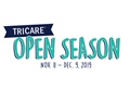 Logo saying TRICARE Open Season is November 11 through December 9, 2019