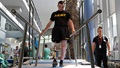 Army Spc. Ezra Maes undergoes physical rehabilitation at the Center for the Intrepid, Brooke Army Medical Center's cutting-edge rehabilitation center on Joint Base San Antonio-Fort Sam Houston, Oct. 2, 2019. (U.S. Army photo by Corey Toye)