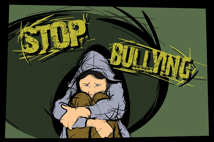 Children can experience social withdrawal, anxiety, and depression as a result of bullying. From the Stop Bullying campaign to Military OneSource, resources are available to help parents and their families identify and address bullying (U.S. Air Force graphic by Staff Sgt. Jamal D. Sutter)
