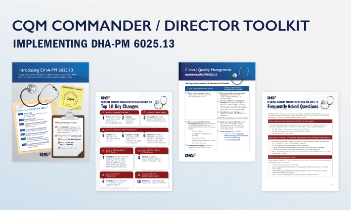 An image featuring the four key products in the CQM Commander/Driector Toolkit