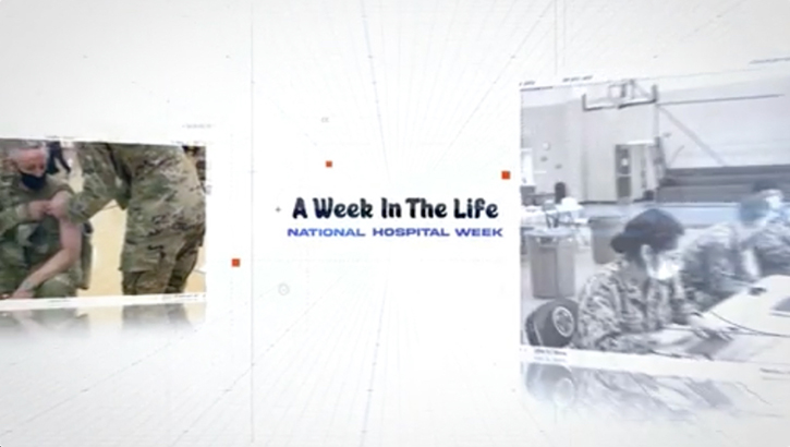 "Image for National Hospital Week with text, ""A Week in the Life."""